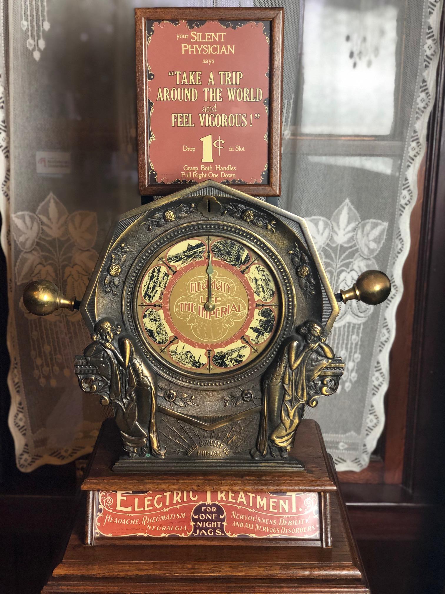 Original NOS Yale Lock for a Mills Vendors Trade Stimulator Arcade Brass Coin Op